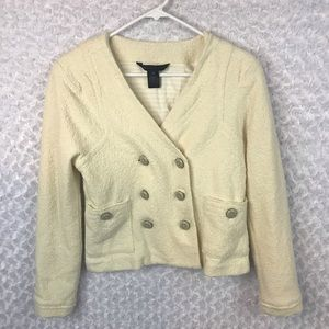 Marc by Marc Jacobs Cream Boucle Wool Jacket
